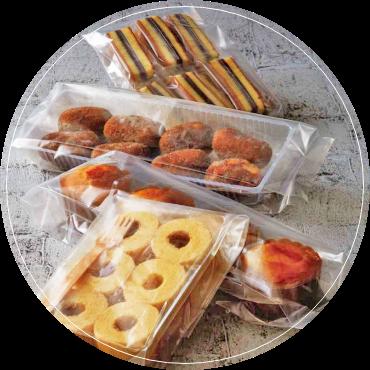 ケーキやお饅頭などの和洋菓子にお勧めなのは、こんな食品袋!