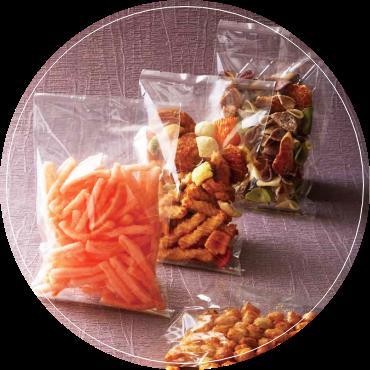 おかきやせんべいなどの乾物にお勧めなのは、こんな食品袋!