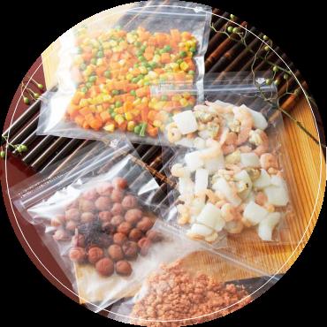 冷蔵・冷凍や真空パックの食品にお勧めなのは、こんな食品袋!